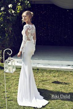 Riki Dalal Wedding Dress (8) Lace back Wedding dress