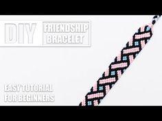 Friendship bracelet Diamonds and Chevrons (Intermediary) Diy Friendship Bracelets Easy, Friendship Bracelet Patterns, Handmade Bracelets, Macrame Bracelet Tutorial, Crochet Bracelet, Chevron Bracelet, Geek Cross Stitch, Bead Loom Bracelets, String Bracelets