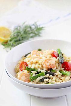 Lemon Tarragon Shrimp and Orzo - Dinner in 30min