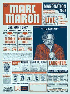 Draplin Design Co. poster for Marc Maron.