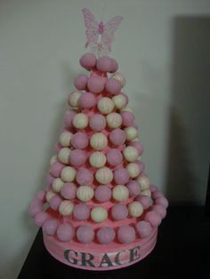 What a beautiful Cakepop Cake by Creative Cakepops Australia! Great idea for any party/wedding/lolly bar