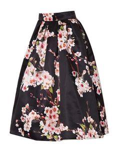 Jollychic Women's Floral Print High Waist Knee. Cheap Skirts, Cute Skirts, Pleated Midi Skirt, High Waisted Skirt, Women's Skirts, Apple Shape Fashion, Swing Rock, Tutu Rock, Moda Retro