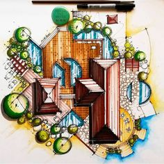 Copic Adam Vassau Landscape Design Renderings