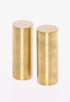 I've been saying for a while now, brass is back! Here in the best possible way, with these hand-made salt & pepper shakers.