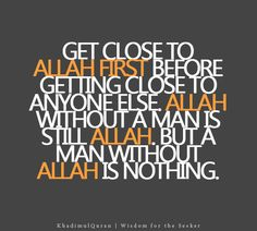 man without Allah is nothing
