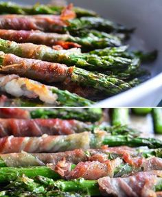 20 Delicious Paleo Recipes: Broiled Proscuitto-Wrapped Asparagus Spears #glutenfree