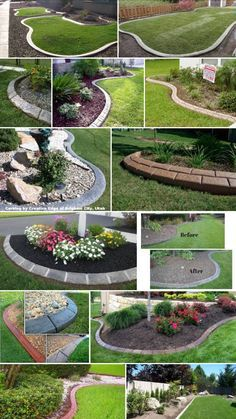 These are three of the most useful front yard landscaping ideas that have been used by homeowners in the past. The charm of these front yard landscaping ideas. Front Garden Landscape, Landscape Curbing, Landscape Edging, Small Backyard Landscaping, Landscaping With Rocks, Landscaping Ideas, Backyard Ideas, Landscaping Software, Home Garden Design