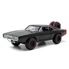 This Fast and Furious 1/24 Scale Die cast 1970 Dodge Charger Off Road features styling cues directly from the movie, as well as lightweight aero modifications and performance wheels. This collectible