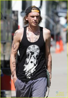 Jamie Campbell Bower. Not only do I love him, but he's a steelers fan?! Even better :)