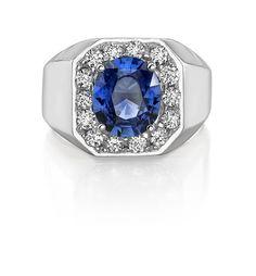INTA Gems - Men's Sapphire Ring