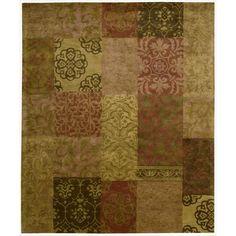 Nourison Hand-tufted Jaipur Multi Wool Rug (9'6 x 13'6-Standard), Brown
