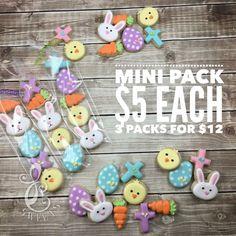 Mini Easter cookie packs