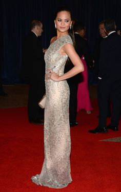 At the White House Correspondents' Association Dinner on April 27, 2013. Getty Images  -Cosmopolitan.com