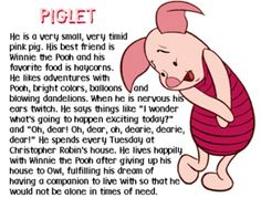 Piglet is a character from Winnie the Pooh. Piglet is Winnie the Pooh (Pooh Bear/Pooh)'s best. Cute Winnie The Pooh, Winnie The Pooh Friends, Eeyore, Tigger, Pooh And Piglet Quotes, Baby Pigs, Pooh Bear, Disney Quotes, Cute Disney