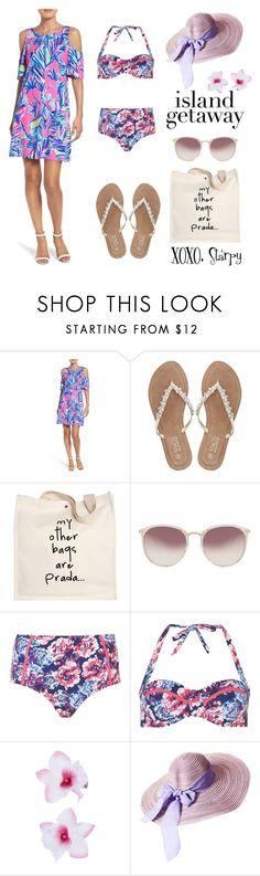 """""""Island Getaway Style"""" by starspy ❤ liked on Polyvore featuring Lilly Pulitzer, M&Co, Prada, Linda Farrow, Dorothy Perkins and Accessorize"""