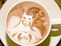 This batman cappuccino art might be a stretch, but love it!