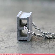 cute kawaii stuff - Cinder Block Pendant