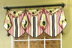 Missy Valance with pointed bottom and pointed cuff  			    Click on the small pictures to see a larger image  Skill Level  	  Missy Valance Sewing Pattern