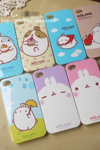 South Korean popular potato rabbit mobile phone shell fresh iphone4 4s protective shell hard shell cartoon shell - Taobao