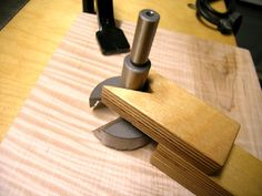 Easy to make Forstner bit guide is great for those without a drill press or when the work can't be brought to the press.