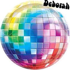 COLORFUL DISCO BALL DEBORAH