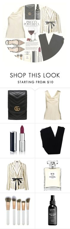 """""""Coraline """"Coral"""" Greene [CHARACTER]"""" by emerald-writer-girl ❤ liked on Polyvore featuring Gucci, Givenchy, Christian Dior, Roberto Collina, Chanel, Spectrum and Libbey"""