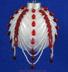 Candy Cane Drops Ornament Cover Pattern