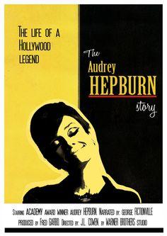 Audrey Hepburn movie posters   Audrey Hepburn movie poster by ~helenegunn on deviantART