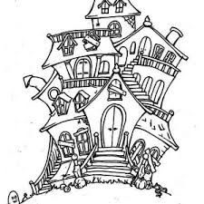 haunted house coloring page google search