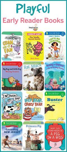 playful new early reader books for beginning readers (that they'll love! Books For Beginning Readers, Early Readers, Books For Boys, Childrens Books, Baby Books, Book Lists, Reading Lists, Reading Resources, Reading Help
