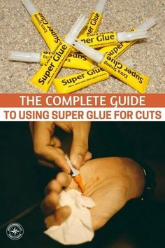 The Complete Guide to Using Super Glue for Cuts - Grab some super glue when you're out shopping next, and the very next time you give yourself a cut that's eligible, give this method of closing your cut a shot! You'll never go without having some super glue handy again. #prepping #preparedness #prepper #survival #shtf #homestead #homesteading #selfsufficient #cuts #firstaid