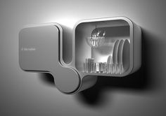 Bifoliate Wall-mounted double Dishwasher by Toma Brundzaite Electrolux Design Lab 2009