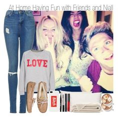 """At Home Having Fun with Niall and Friends & Ultimate Directioner Tag Part II"" by elise-22 ❤ liked on Polyvore featuring Splendorest, Topshop, Rika, UGG Australia, Married to the Mob, Stila, shu uemura and NARS Cosmetics"