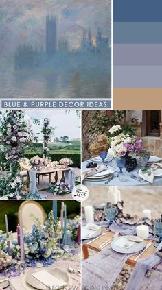 light blue and lavender wedding decor ideas for micro wedding ideas