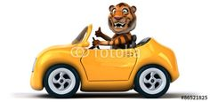 Tiger driving