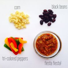 Baby's first Tex-Mex! Beans give lots of good iron and the bell pepper has vitamin C which helps baby's body absorb that iron! What a yummy and nutritious treat! Baby Puree Recipes, Pureed Food Recipes, Baby Food Recipes, Gourmet Recipes, Whole Food Recipes, Cooking Recipes, Toddler Meals, Kids Meals, Toddler Food