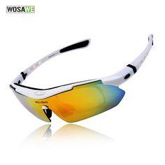 WOSAWE Men Cycling Glasses Bicycle Road Mountain Bike Riding Sun Glasses Eyewear Goggle Sunglasses 5 Lens Polarized #Affiliate