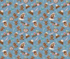 Gingerbread Cookies in glitter fabric by koko_bun on Spoonflower - custom fabric My Design, Custom Design, Glitter Fabric, Creative Business, Custom Fabric, Gingerbread Cookies, Spoonflower, Fabric Design, Craft Projects