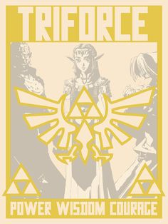 Triforce. Zelda poster 4 of 4. by agent jacqueline