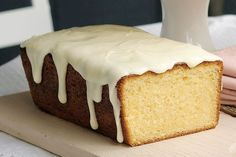 Coconut Cake with Lemon Sour Cream Icing. I can picture it now - a lovely Sunday afternoon, a cup of well-made tea and a slice of this delicious cake. Almond Sour Cream Cake Recipe, Sour Cream Icing, Lemon And Coconut Cake, Lemon Icing, Coconut Cakes, Coconut Recipes, Baking Recipes, Cake Recipes, Dessert Recipes