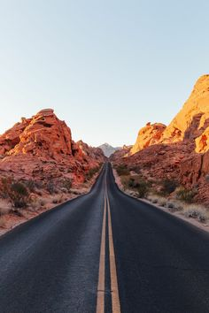 The long road ahead through the Nevada desert.