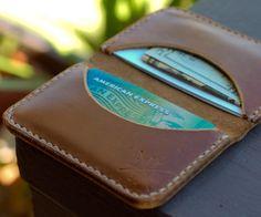 Fancy - Slim Leather Wallet by Hellbrand Leather