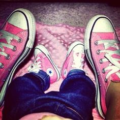 Matching pink converse with my daughter? Yes, please! We do Pink!