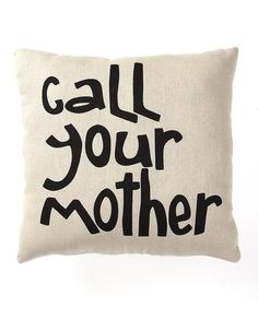 Call your mother.  Handmade signs and wood decor from Collins on #zulily