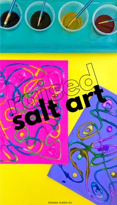 How to Do the Classic Raised Salt Art Project - Babble Dabble Do Preschool Art Activities, Creative Activities For Kids, Preschool Library, Creative Kids, School Art Projects, Craft Projects For Kids, Kids Crafts, Simple Circuit Projects, Painting For Kids