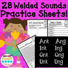 """This product contains 28 No Prep Printables including word making and word sorts! There are 3 worksheets for each of these word families. (The exception is """"onk"""" which has 2 worksheets because there are so few words in that family.)ang, ing, ong, ung, ank, ink, onk Making Words, Word Sorts, Word Families, 5th Grades, Helping Others, Sorting, Read More, Worksheets, Prepping"""