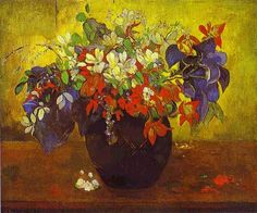 Gauguin A Vase of Flowers 1896 Saw this at the National Gallery London