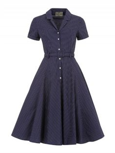 Caterina Polka Dot Shirt Swing Dress