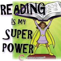 Reading is MY super power! Reading Posters, Reading Themes, Reading Quotes, Library Themes, Library Displays, Library Ideas, Library Quotes, Library Books, Hero Of The Day