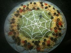 7 layer dip for a Halloween Party